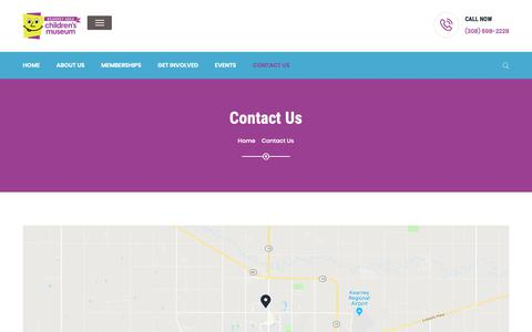 Screenshot of Contact Page kearneychildrensmuseum.org - Contact Us – Kearney Children's Museum - captured Oct. 15, 2018