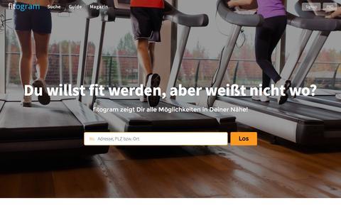 Screenshot of Home Page fitogram.at - fitogram | Das Portal für Fitness, Wellness und Gesundheit - captured March 6, 2016