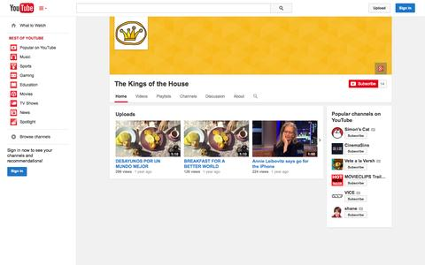 Screenshot of YouTube Page youtube.com - The Kings of the House  - YouTube - captured Oct. 26, 2014