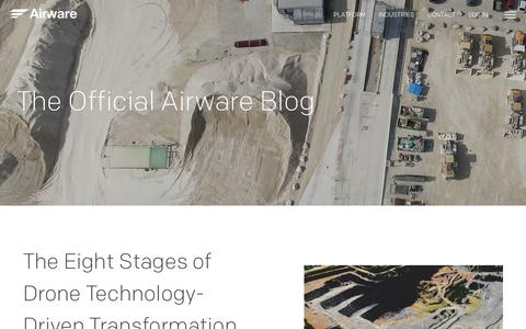 Screenshot of Blog airware.com - Blog - Airware - captured Oct. 27, 2017