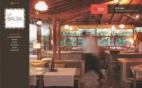 Screenshot of Home Page labalsarestaurant.com - La Balsa Restaurante - La terraza de BarcelonaRestaurante La Balsa | Un vergel en Barcelona - captured Sept. 26, 2014