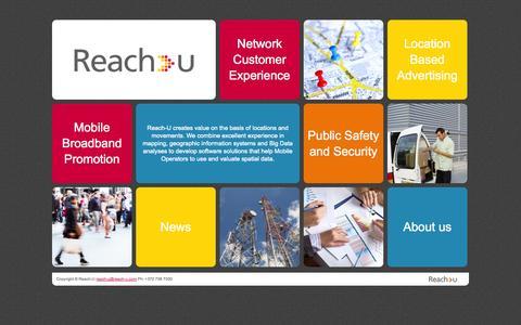 Screenshot of Home Page reach-u.com - Reach-U - captured Oct. 7, 2014