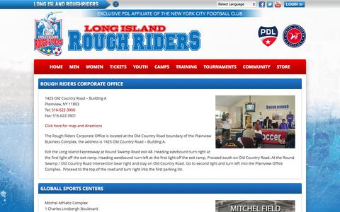 Screenshot of Maps & Directions Page liroughriders.com - Directions | Long Island Rough Riders - captured Nov. 13, 2016