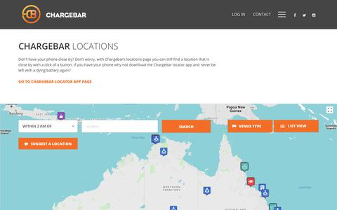 Screenshot of Locations Page chargebar.com.au - Locations | ChargeBar - captured July 17, 2018