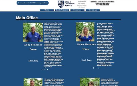 Screenshot of Team Page shieldagency.com - About | Shield Insurance Agency|US| Michigan - captured Dec. 17, 2018