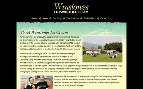 Screenshot of About Page winstonesicecream.co.uk - About Us - Winstones Ice Cream - captured Oct. 26, 2014