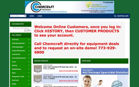 Screenshot of Products Page chemcraftind.com - Chemcraft : Online Catalog - captured Oct. 2, 2014
