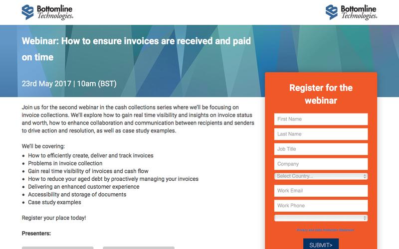 How to ensure invoices are received and paid on time webinar