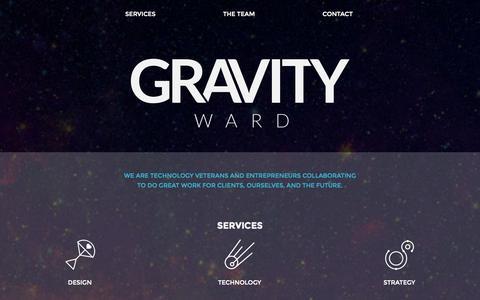 Screenshot of Home Page gravityward.com - Gravity Ward - captured Sept. 30, 2014