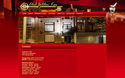 Screenshot of Contact Page clubgoldenkey.nl - Contact Us | Club Golden Key - captured Sept. 30, 2014