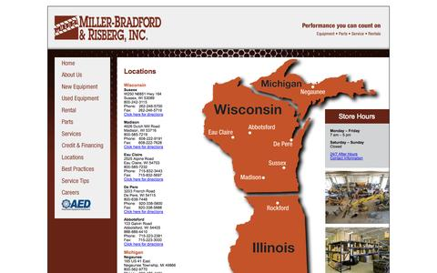 Screenshot of Contact Page Locations Page miller-bradford.com - Miller-Bradford & Risberg, Inc. - captured Oct. 25, 2014