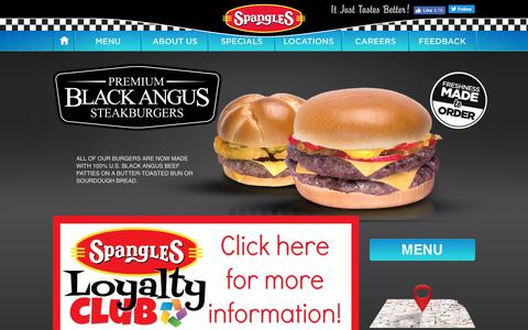 Screenshot of Home Page spanglesinc.com - Freshness Made To Order - It Just Tastes Better - Spangles - captured June 10, 2018