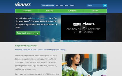 Employee Engagement Solutions | Verint