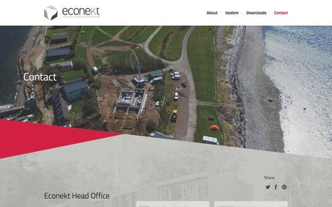 Screenshot of Contact Page econekt.co.uk - Contact – Econekt - captured July 16, 2018