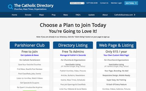 Screenshot of Signup Page catholicdirectory.com - Join The Catholic Directory Today! - captured April 8, 2017