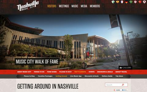 Screenshot of Maps & Directions Page visitmusiccity.com - Getting Around in Nashville - Maps, Travel and Transportation Information | Visit Nashville, TN - Music City - captured Oct. 18, 2018