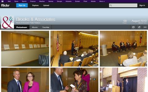 Screenshot of Flickr Page flickr.com - Flickr: Brooks & Associates Public Relations' Photostream - captured Oct. 23, 2014