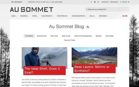Screenshot of Press Page ausommet.ca - Au Sommet Blog - captured Oct. 13, 2016