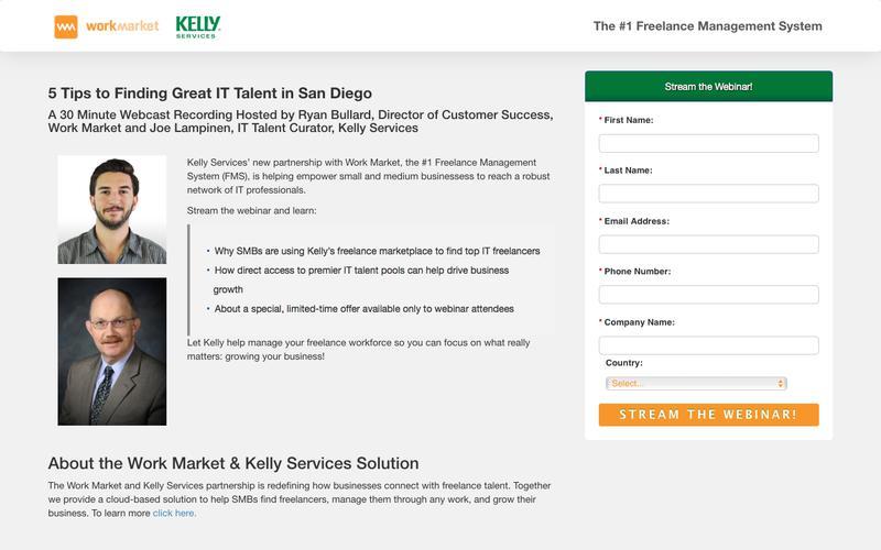 Work Market-Kelly Services San Diego Webinar