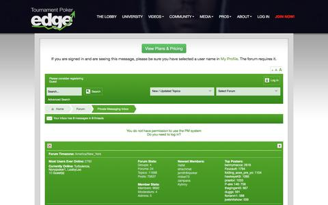 Screenshot of tournamentpokeredge.com - Poker Forum | tournamentpokeredge - captured Jan. 4, 2017