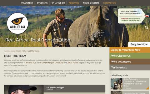 Screenshot of Team Page wildlifeact.com - Meet the Team - Wildlife ACT - captured Dec. 14, 2017