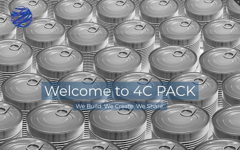 Screenshot of Home Page 4cpack.com - Home - 4C PACK SL - captured Sept. 21, 2018