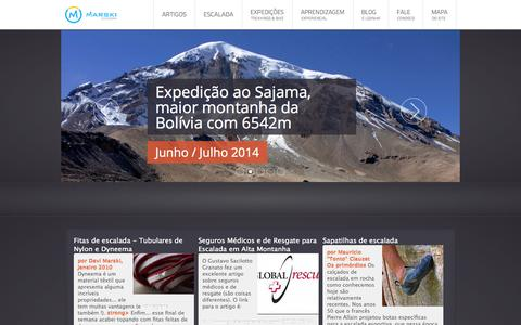 Screenshot of Home Page marski.org - Marski - Expedições, Montanhismo e Escalada - Marski - Montanhismo, Escalada e Expedições - captured Sept. 18, 2014