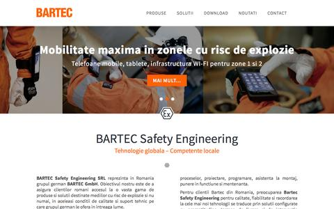 Screenshot of Home Page bartec-safety.ro - Homepage - Bartec : Bartec - captured Nov. 22, 2016