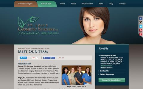 Screenshot of Team Page stlcosmeticsurgery.com - St. Louis Cosmetic Surgery's Medical, Patient Care & Front Office Team - captured Dec. 1, 2016