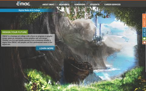 Screenshot of Home Page dmac.edu - Digital Media Arts College | Graphic Arts School | DMAC Boca Raton - captured Sept. 13, 2015