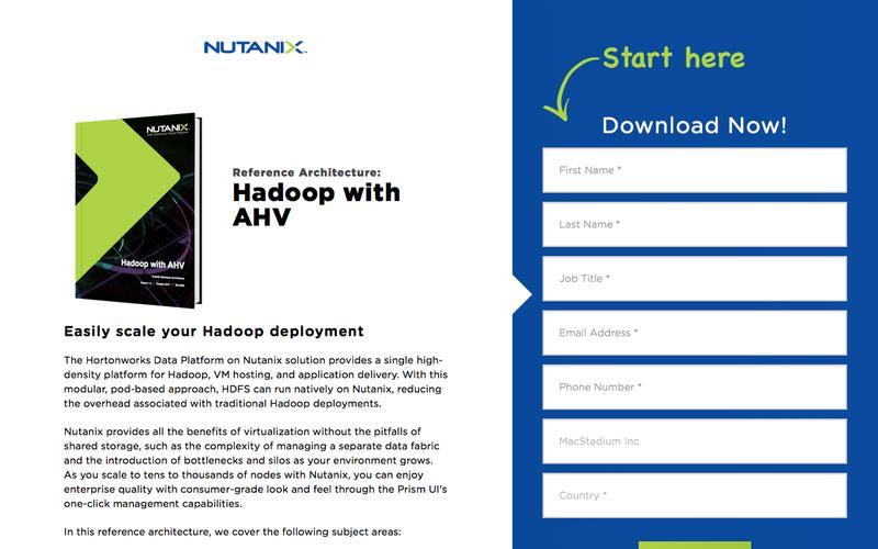 Nutanix for Hadoop