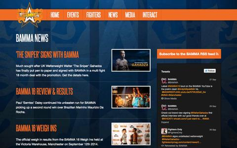 Screenshot of Press Page bamma.com - BAMMA News—BAMMA - captured Sept. 30, 2014