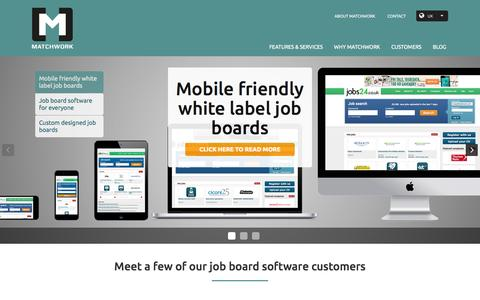 Screenshot of Home Page matchwork.com - Job board software - White label job portal by MatchWork - captured Dec. 20, 2015