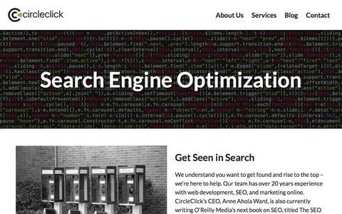 Screenshot of Services Page circleclick.com - Search Engine Optimization   CircleClick Media - captured July 18, 2018