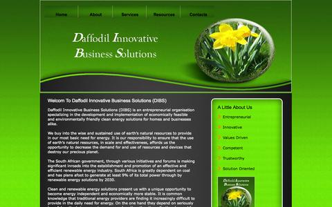 Screenshot of Home Page daffodilibs.co.za - Daffodil IBS CC - captured Sept. 30, 2014