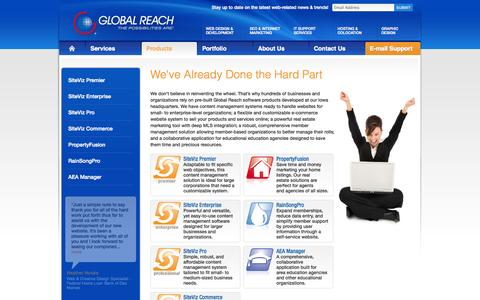 Screenshot of Products Page globalreach.com - Ecommerce Website in Iowa | Content Management - captured Oct. 8, 2014