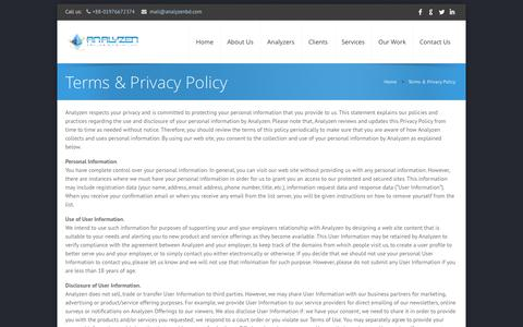 Screenshot of Privacy Page analyzenbd.com - Analyzen - Terms & Privacy Policy - captured Oct. 4, 2014