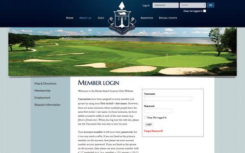 Screenshot of Login Page ricc.org - Rhode Island Country ClubMember Login - captured Nov. 30, 2016