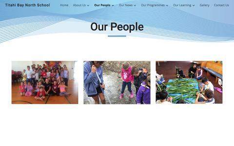 Screenshot of Team Page google.com - Titahi Bay North School - Our People - captured April 28, 2017