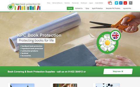 Screenshot of Home Page kpc-ltd.com - KPC Book Protection - Book Covering Supplies - captured Oct. 16, 2017