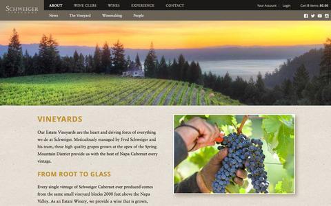 Screenshot of About Page Team Page schweigervineyards.com - Schweiger Vineyards - About - captured Jan. 24, 2016