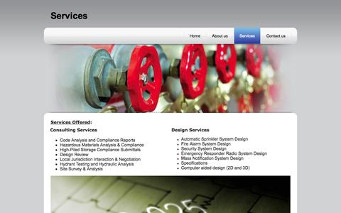 Screenshot of Services Page nrgfireconsulting.com - Fire protection services in Seattle and Puget Sound - captured Oct. 26, 2014