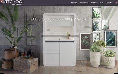 Screenshot of Home Page kitchoo.com - Mini kitchen: mini compact kitchen and small kitchen by Kitchoo - captured Sept. 20, 2018