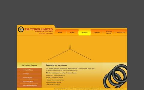 Screenshot of Products Page tmtyres.com - :: TM Tyres :: - captured Feb. 22, 2016