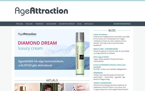 Screenshot of Home Page age-attraction.hu - Age Attraction - captured May 8, 2017