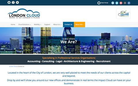 Screenshot of Contact Page londoncloud.co - Contact Us - London Cloud - captured Oct. 28, 2014