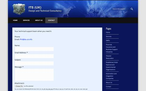 Screenshot of Contact Page its-uk.info - Contact - captured Sept. 30, 2014