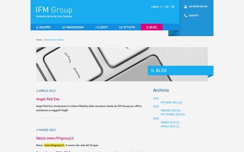 Screenshot of Press Page ifmgroup.it - Comunicati  Stampa   IFM Group - captured Oct. 3, 2014