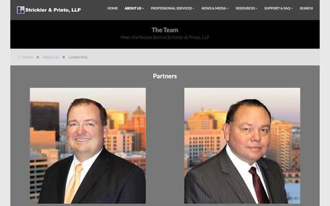 Screenshot of Team Page cpa-sp.com - Leadership - captured Feb. 25, 2016