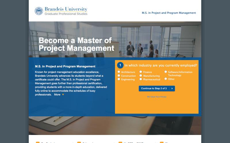M.S. in Project and Program Management | Brandeis University